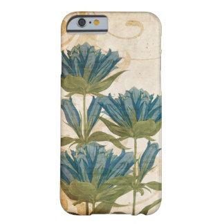 El azul florece el boda del vintage funda de iPhone 6 barely there