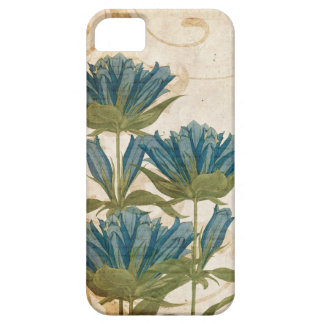 El azul florece el boda del vintage iPhone 5 cárcasas