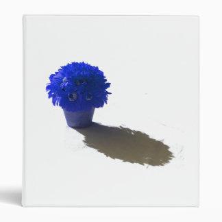 """El azul florece el cubo y la sombra blancos carpeta 1"""""""