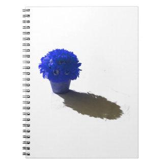 El azul florece el cubo y la sombra blancos libro de apuntes