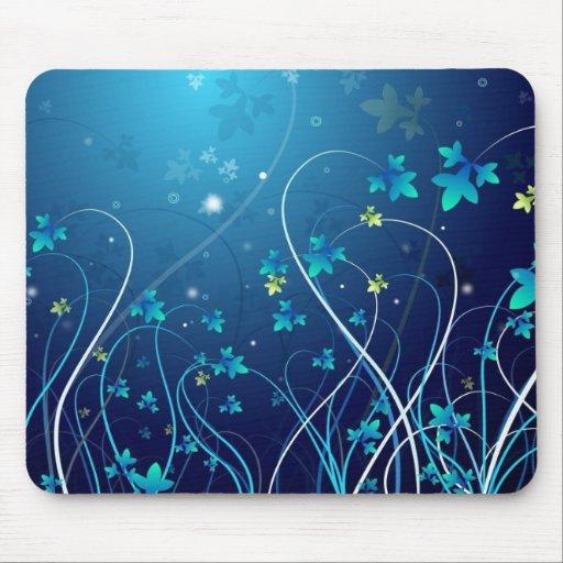 El azul florece el mousepad alfombrillas de ratones
