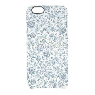 El azul florece la caja clara del iPhone 6/6S Funda Clearly™ Deflector Para iPhone 6 De Uncommon
