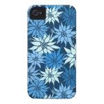El azul florece la caja del iPhone 4/4S iPhone 4 Cárcasas