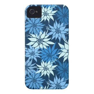 El azul florece la caja del iPhone 4/4S iPhone 4 Case-Mate Cárcasa