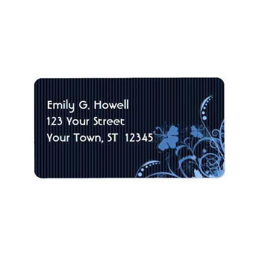 El azul florece la etiqueta de Avery Etiquetas De Dirección
