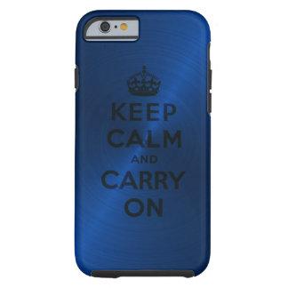 El azul guarda calma y continúa funda de iPhone 6 tough