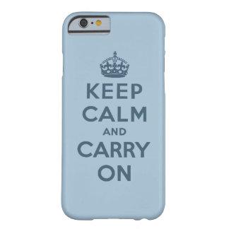 El azul guarda calma y continúa funda de iPhone 6 barely there
