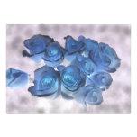 El azul Hauntingly hermoso teñió rosas Comunicados Personales