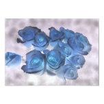 """El azul Hauntingly hermoso teñió rosas Invitación 5"""" X 7"""""""