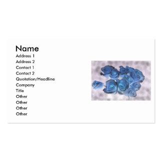 El azul Hauntingly hermoso teñió rosas Tarjeta De Visita