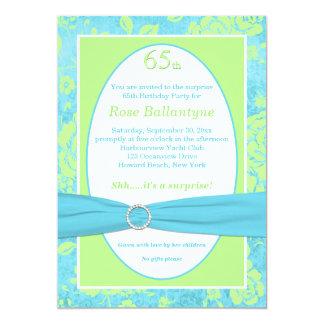 El azul IMPRESO de la CINTA, 65.o cumpleaños del Anuncios Personalizados