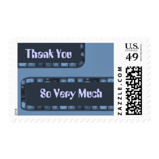 El azul le agradece tejar la frontera timbre postal