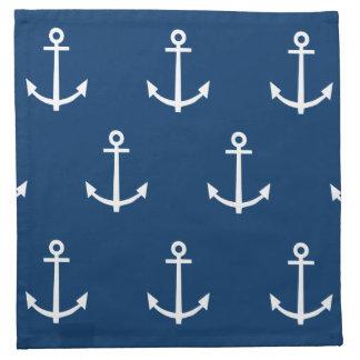 El azul marino ancla el modelo 1 servilleta