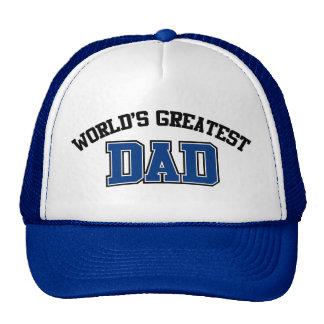 El azul más grande del gorra del papá de los mundo