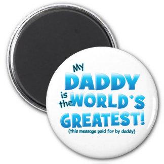 El azul más grande del papá de los mundos imán redondo 5 cm