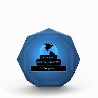 El azul más grande del premio del mundo de la hija