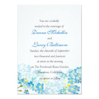 El azul me olvida que no casa la invitación invitación 12,7 x 17,8 cm