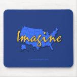 El azul Mousepad de 50 estados