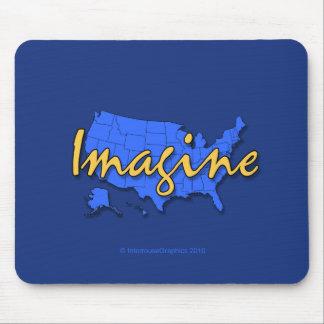El azul Mousepad de 50 estados Tapete De Ratones