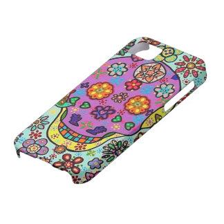 El azul muerto del día florece iphone púrpura del  iPhone 5 funda