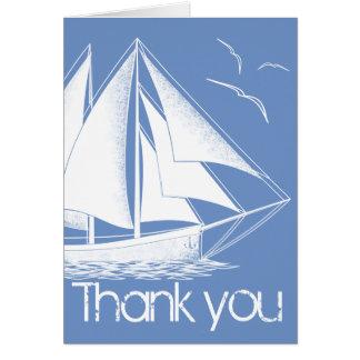 El azul náutico le agradece cardar tarjeta de felicitación