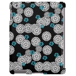El azul negro de Sakura florece el estampado de fl Funda Para iPad