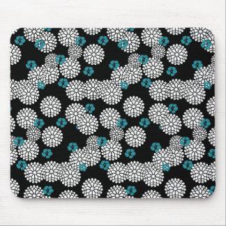 El azul negro de Sakura florece el estampado de fl Tapetes De Ratones