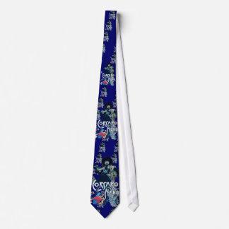 El azul NEGRO del CORSARIO Corbata Personalizada