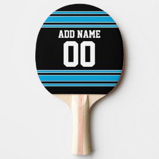 El azul negro se divierte el jersey con su nombre  pala de ping pong