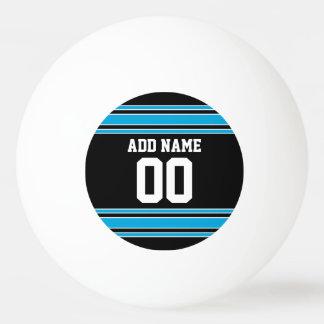 El azul negro se divierte el jersey con su nombre pelota de tenis de mesa