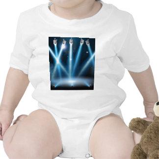 El azul pone de relieve el fondo trajes de bebé