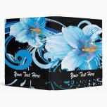 el azul precioso retro florece la carpeta floral