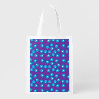 El azul puntea el bolso reutilizable bolsa reutilizable