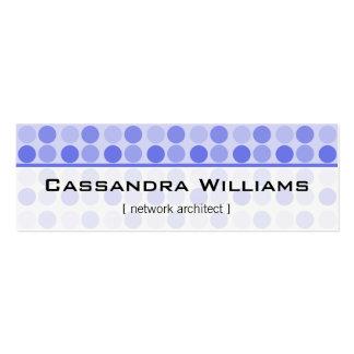 El azul puntea tarjetas de visita micro de la red