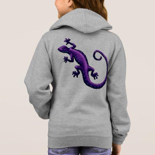 El azul púrpura del lagarto de la cola larga sudadera