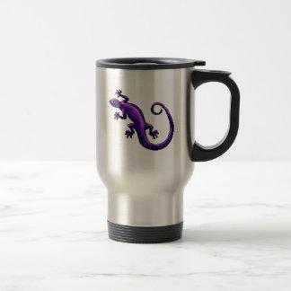 El azul púrpura del lagarto de la cola larga taza de viaje