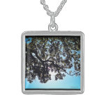 El azul ramifica collar de la plata esterlina