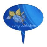 El azul real agita enhorabuena figura para tarta