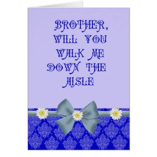 El azul real camina yo abajo de la petición del pa tarjetas