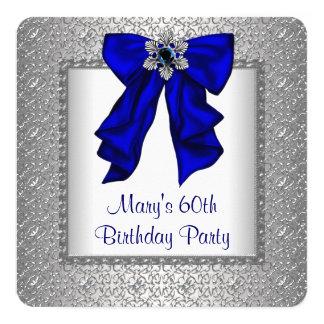 El azul real de la mujer y fiesta de cumpleaños de invitación 13,3 cm x 13,3cm