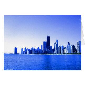 El azul real destacó el horizonte de Chicago Felicitación