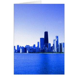 El azul real destacó el horizonte de Chicago Tarjeton