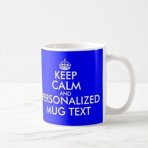 El azul real guarda la plantilla tranquila del tex tazas de café