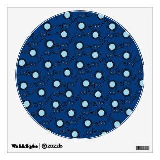 El azul real modela la circular vinilo