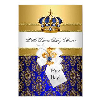"""El azul real pequeña fiesta de bienvenida al bebé invitación 3.5"""" x 5"""""""