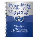 El azul real, platea el cuaderno floral unido de l