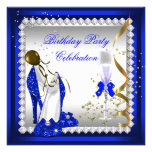 El azul real se inclina a la fiesta de cumpleaños  anuncios personalizados
