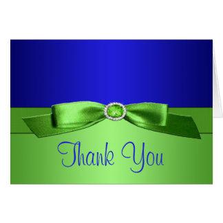 El azul real y la verde lima le agradecen tarjeta