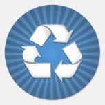 El azul recicla a los pegatinas 001