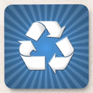 El azul recicla los prácticos de costa 0001 posavasos de bebidas